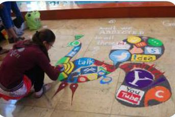 Rangoli campus event