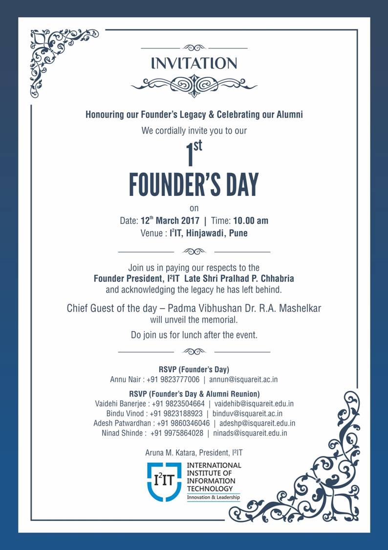 founders day and alumni