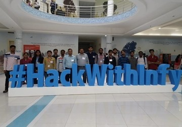 I²IT Students visit #HackwithInfy