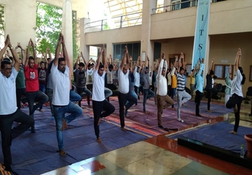 I²IT celebrated the 5th International Yoga Day