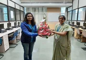 Ms. Sahana B G from the 2017-18 batch, secured the 5th rank in B.E. Computer Engineering at SPPU