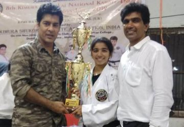 Shivani Rajhance, (T.E. – IT), on winning the Gold Medal in the Kumite (fight) event and the Bronze Medal in the Kata event