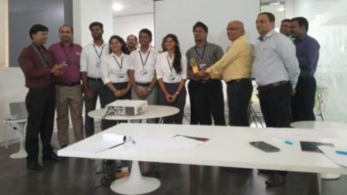 FE Student teams from I²IT for winning the First and the Second Prize at the Barclays Tech Innovation Challenge 2019