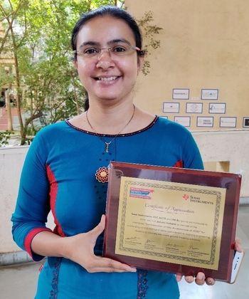 Congratulations to Prof. Ashvini Kulkarni (E&TC)